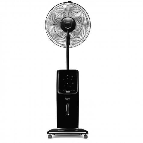 ventilateur brumisateur sur pied de 2L avec fonction anti-moustique 100W noir