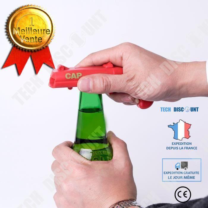 TD® Intéressant ouvreur de bouteille boisson accessoire de bar ouvrir bières facilement ouverture rapide décapsuleur bière