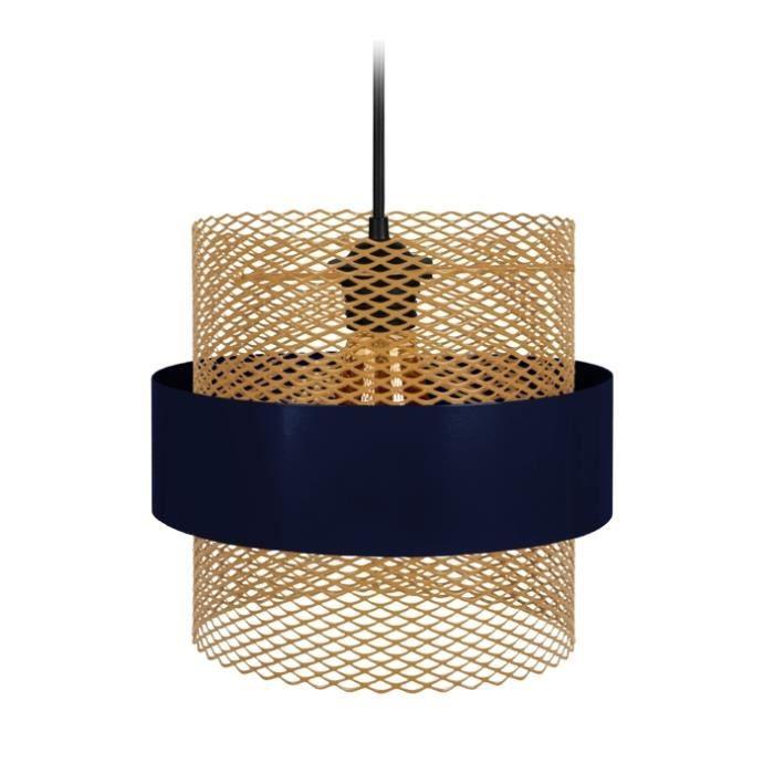 Suspensions MISIS 1 TOSEL Bleu - Dimensions: 27 x 80 cm- Douille: E27 - Puissance: 40W