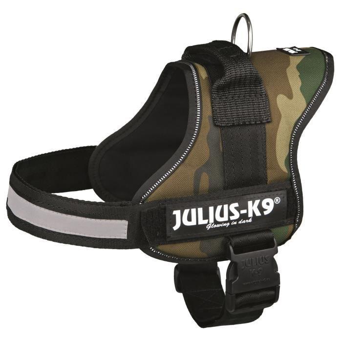 Harnais Power Julius-K9 - 0 - M-L : 58-76 cm-40 mm - Camouflage - Pour chien