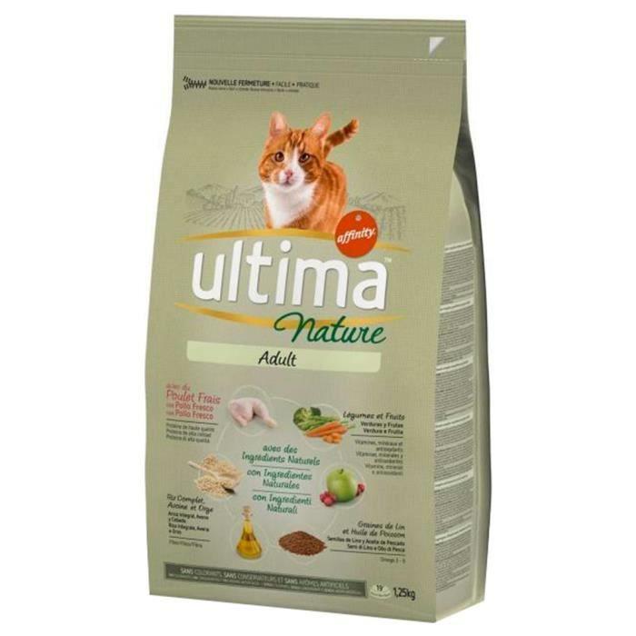 Ultima Nature Croquettes Chat Adult Poulet 1,25Kg (lot de 3)
