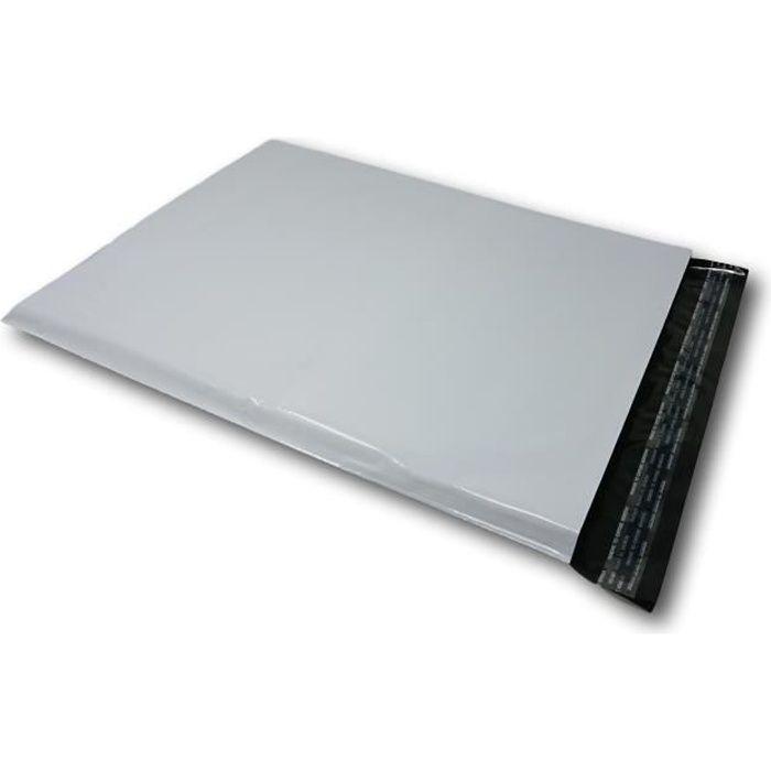 lot de 100 enveloppes pochettes A3 plastique opaque 350 x 450 mm