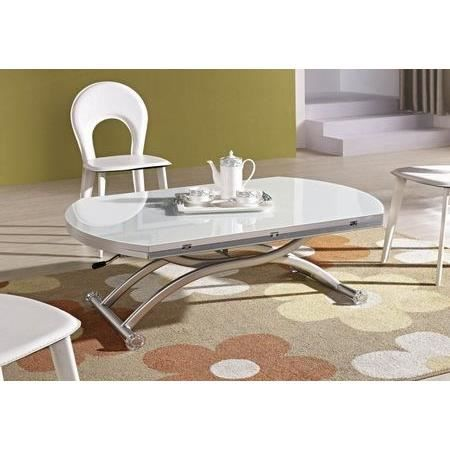 table basse relevable venezia finition verre blanc achat. Black Bedroom Furniture Sets. Home Design Ideas