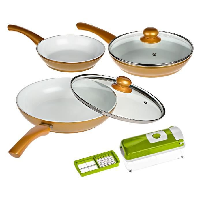 POÊLE - SAUTEUSE CERAFIT GOLD + Nicer Dicer Light