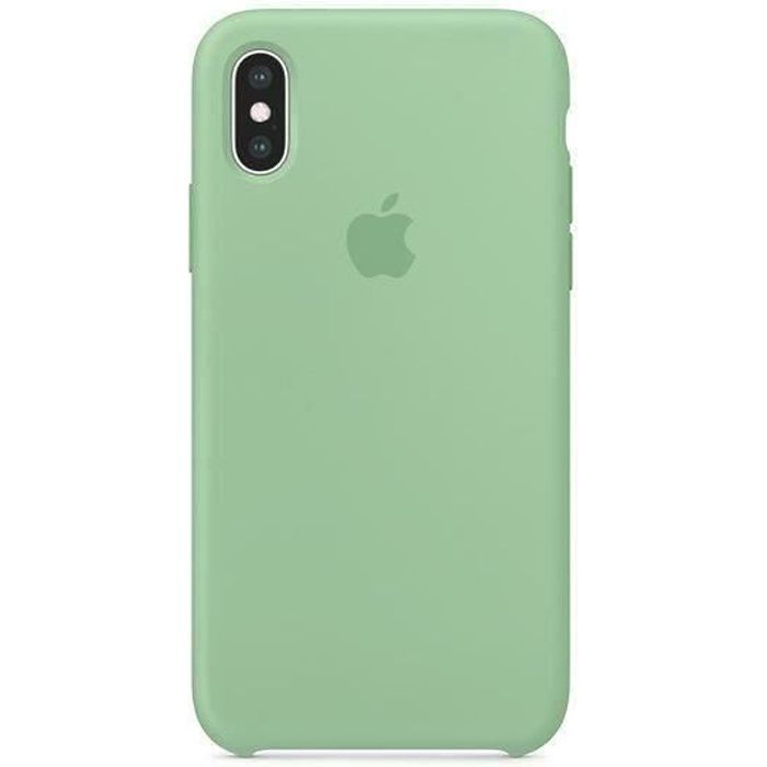 apple coque en silicone iphone x xs 5 8 vert