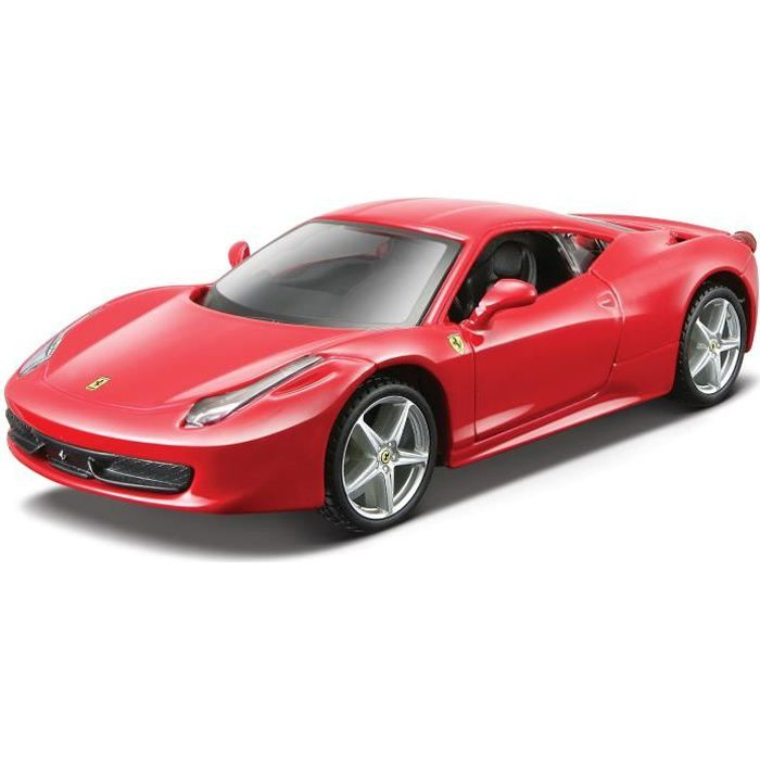 burago voiture ferrari collection 458 italia chelle 1 24 assortiment rouge ou jaune achat. Black Bedroom Furniture Sets. Home Design Ideas