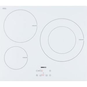 Table de cuisson beko hii63400atw achat vente plaque - Table induction blanche 3 foyers ...