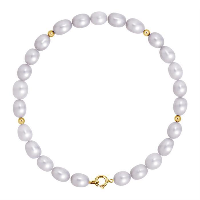 7-8 mm 19cm Blanc perle de culture rouge agate,Bracelet