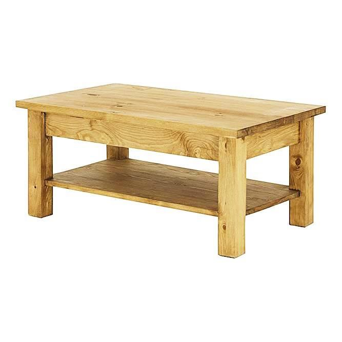 Table basse pin massif double plateau 100 cm ar achat vente table basse - Plateau en pin massif ...
