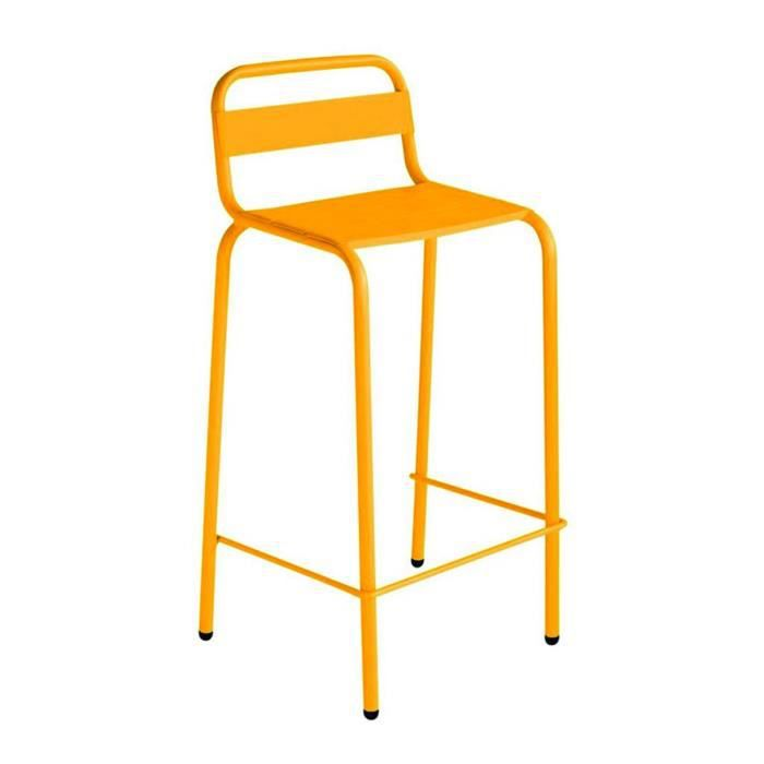 tabouret de bar outdoor indoor visalia couleur jaune moutarde achat vente fauteuil jardin. Black Bedroom Furniture Sets. Home Design Ideas