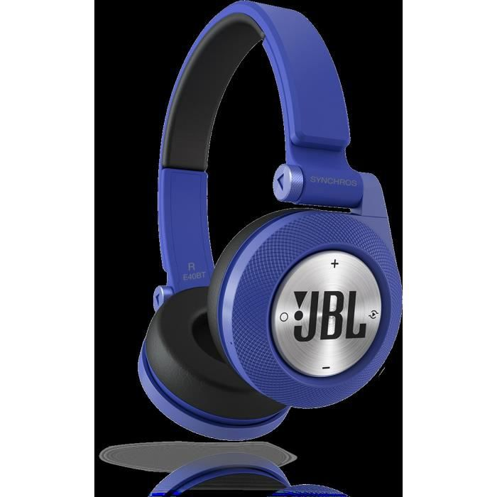 jbl e40bt casque audio bluetooth bleu achat casque couteur audio pas cher avis et meilleur. Black Bedroom Furniture Sets. Home Design Ideas