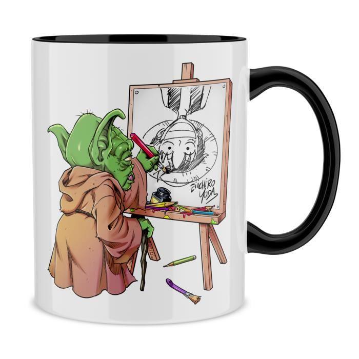 BOL Mug Noir One Piece parodique Eiichiro Yoda dessina