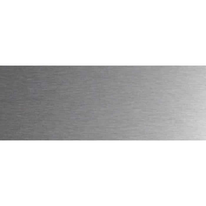 Lot 2 plinthes inox 92 x 20 cm protection bas de porte for Plaque inox a coller