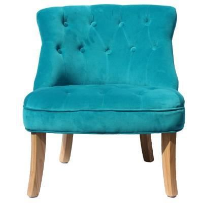 fauteuil crapaud velours turquoise achat vente. Black Bedroom Furniture Sets. Home Design Ideas