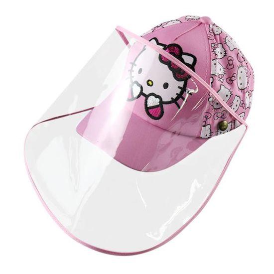 Fannyfuny Enfants Chapeau de Soleil Ete Anti-Spray Protection Oculaire Impression de Dessin Anim/é Chapeau de P/êcheur Amovible Chapeau de Soleil Pour Plage Vacances