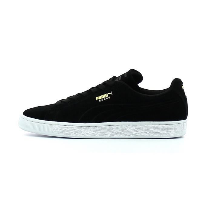 Puma Suede Class Debossed Hommes Baskets Black White - 10 UK