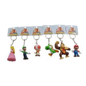 FIGURINE - PERSONNAGE 5 Pack-Lot Super Mario Bros Keychain Yoshi Toad pr