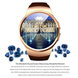 MONTRE CONNECTÉE KW18 Bluetooth poignet appel Montre intelligente S