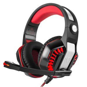 CASQUE AVEC MICROPHONE Stéréo Surround Gaming Headset casque 3,5 mm Bande