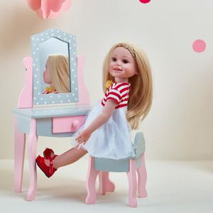 NURSERIE Meuble coiffeuse avec tabouret miroir tiroir pour