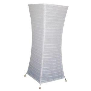 LAMPADAIRE Lampadaire papier blanc 58 cm pieds métal - ambian