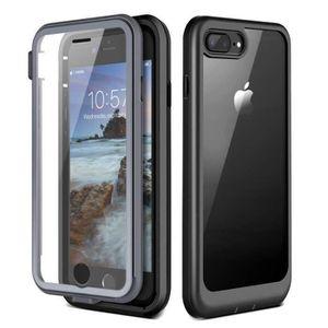 Coque Intégrale pour iPhone 8 Plus / 7 Plus Avant Arrière & Verre Trempé Housse Anti