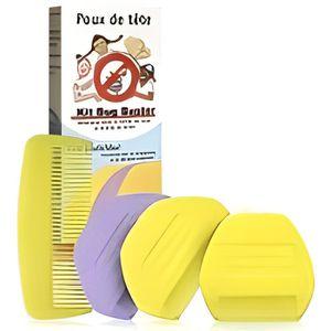 PEIGNE ANTI-POUX Kit de 5 Peignes anti poux et lentes Bug Buster