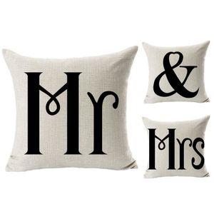 Ensemble de personnalisé Mr /& Mrs Mariage Coussin Couverture 40 cm x 40 cm-NEUF