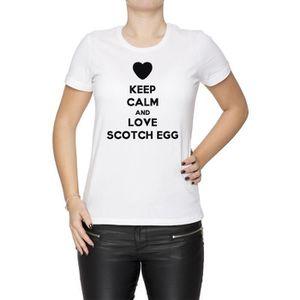 T-SHIRT Tee-shirt - Keep Calm And Love Scotch Egg Femme Co