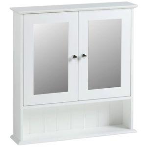 ARMOIRE DE CHAMBRE Vonhaus Armoire de Toilette avec Miroir 2 Portes p