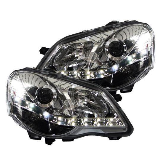 LanLan LED feu arri/ère de Phare de Voiture de d/érive de kit de RC pour 1//10 RC Camion de Voiture Crawler 4 Blanc 4 LEDs Rouges