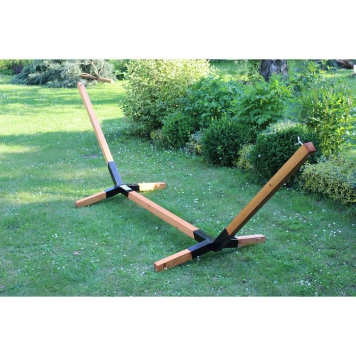 Megaastore Support pour hamac en bois de hêtre jusqu'à 150 kg - Largeur : 320 cm