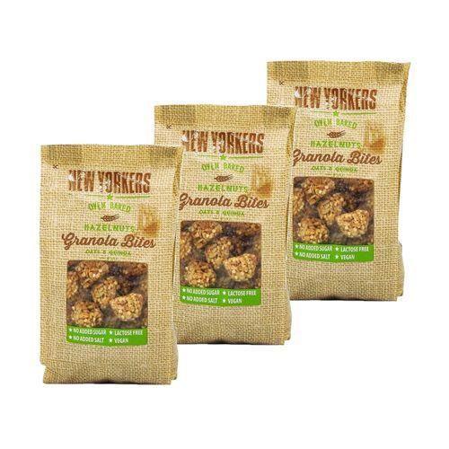 Lot 3X Billes de granola noisettes - Newyorkers - paquet 125g