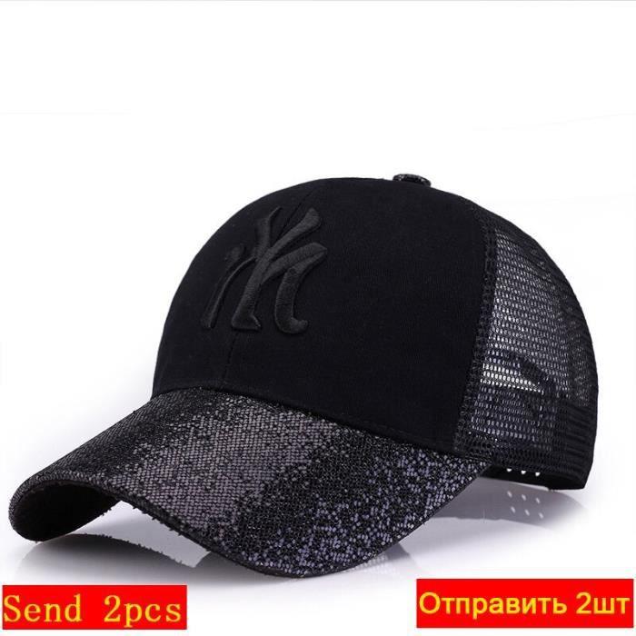 casquette de Baseball pour femmes, nouvelle marque, chapeau avec maille, style Hip Hop, brodé, paillettes, RC1134, 2020 [22DB6E4]