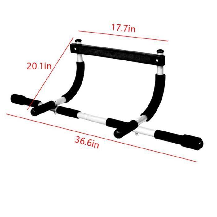 barre pour traction -Portable Pull-up Bar pour le Haut Du Corps Formation Porte Barre D'entraîn...- Modèle: Argent - ZOAMFWZDA07553