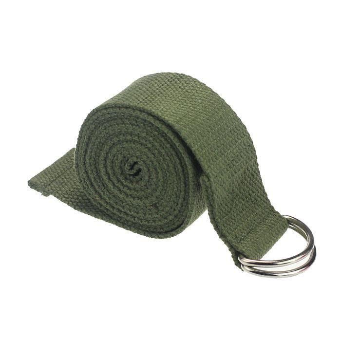 FRI Nouveau Corde de yoga sangle d-Ring ceinture taille jambe fitness 180 cm réglable GN ZSY4082804E
