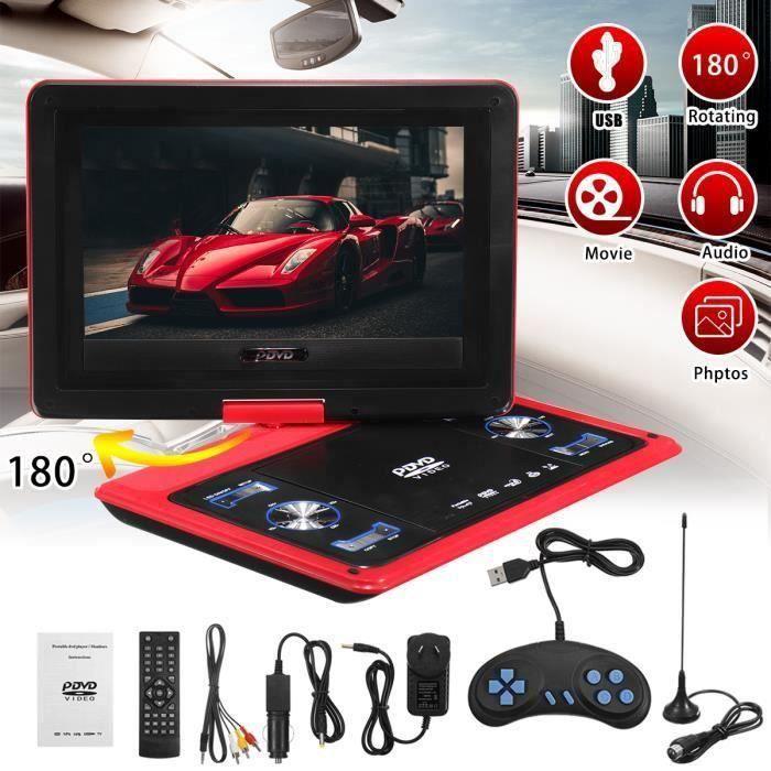 13.8 Pouce Portable Lecteur DVD Voiture Télécommande 180° Écran Pivotant Rouge PRISE AU Y02118