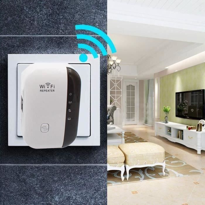 300Mbps WIFI Repeteur Booster De Signal Sans Fil WiFi Extender Mini Amplificateur Portatif*SQ MC20421