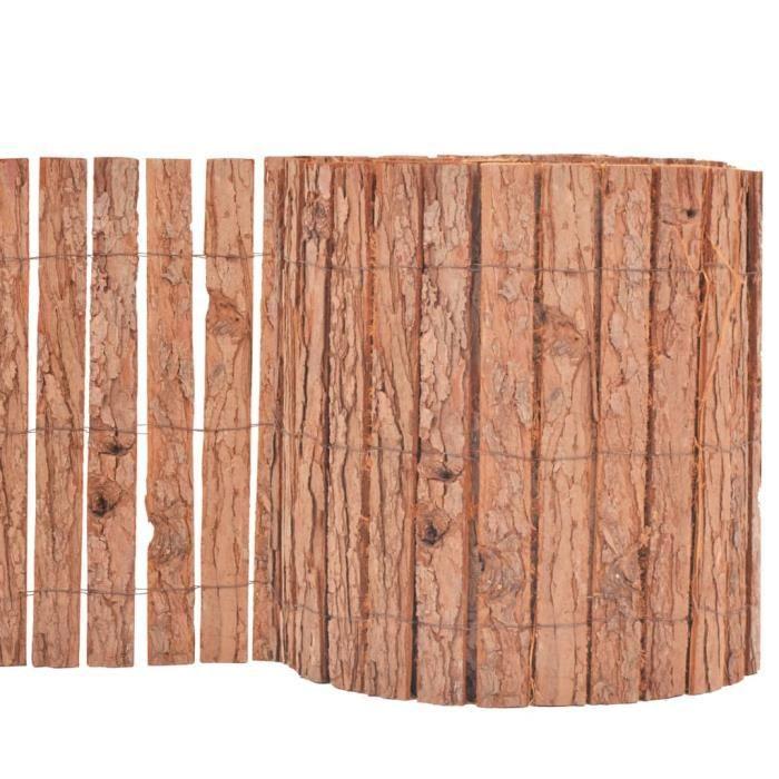 ��8558 Clôture de Jardin Panneau de Clôture de Terrasse Clôture de Patio Brise-Vent Brise-Vue Arrière-Cour Extérieur Ecorce -1000 x