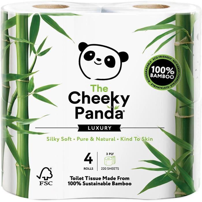 Cheeky Panda - Bambou Luxueux Et Durable 4 Rouleau Papier Hygiénique