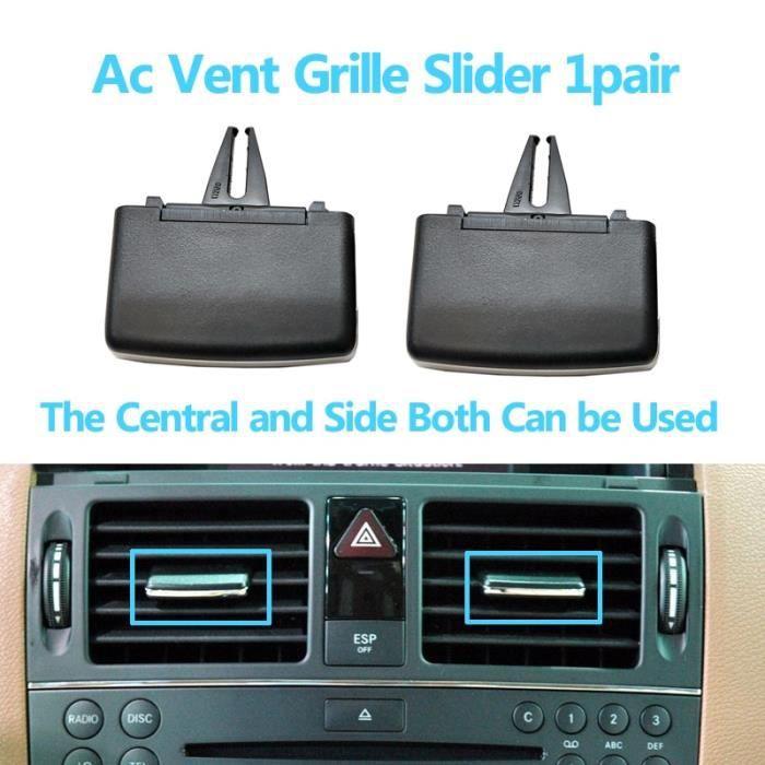Filtres à air,RHD Grille de ventilation pour climatiseur de tableau de bord, pour Mercedes Benz W204 classe C - Type 1Pair Silder