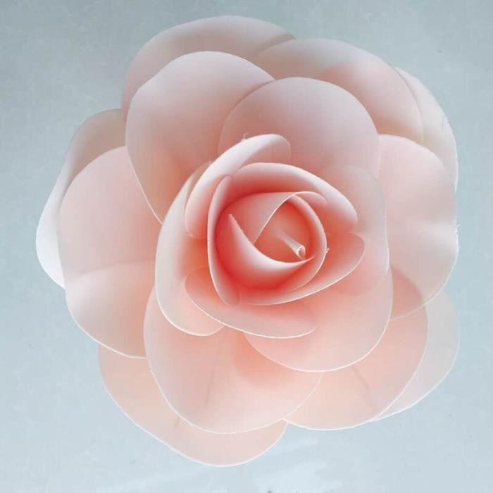 Décoration florale,Grandes Roses artificielles en mousse,ensemble de mur de fleur de mariage de Style - Type light pink - 50cm