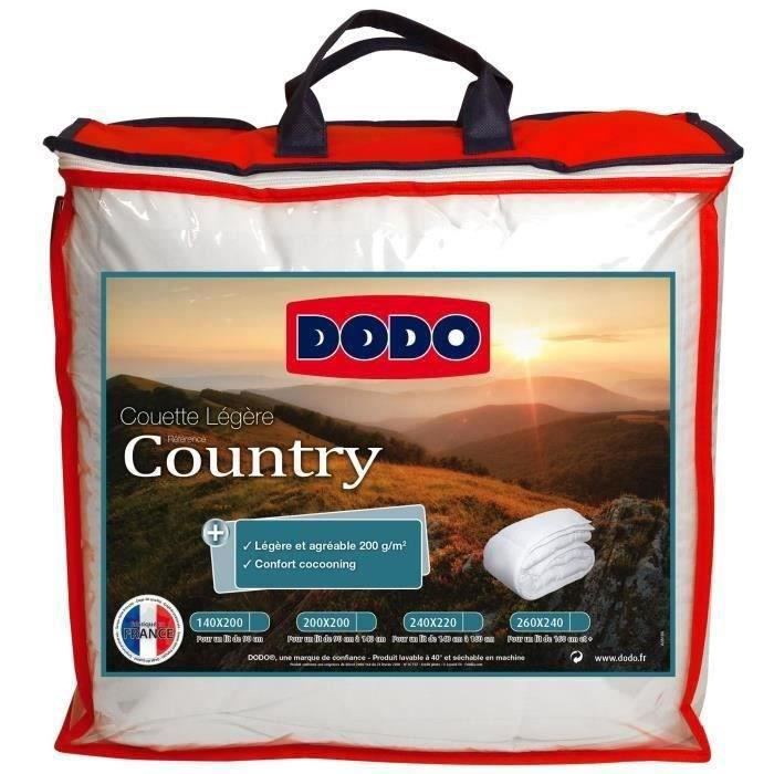 DODO Couette légère Country - 220 x 240 cm - Blanc