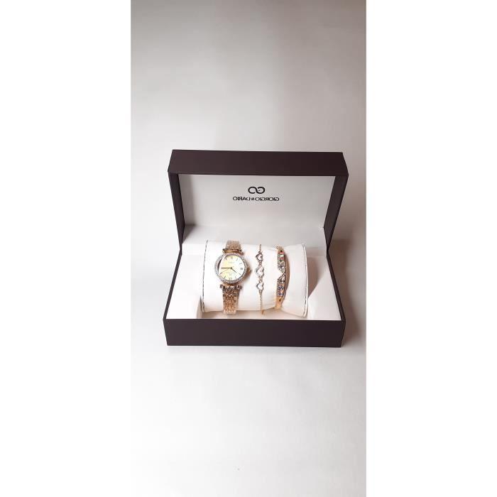 coffret cadeau montre femme gourmette bracelet