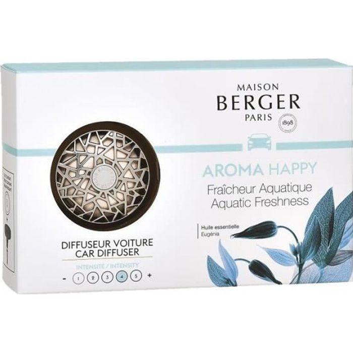 Maison Berger - 6403 Diffuseur de parfum pour voiture Aroma Happy Argenté