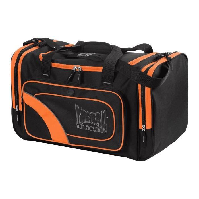 METAL BOXE Sac de Sport Club - Noir et Orange