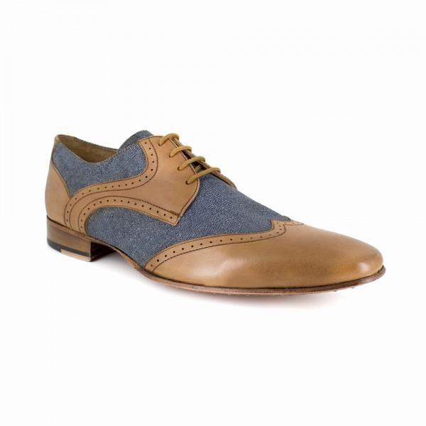 Chaussures Homme Derby J.Bradford Cuir Blue JB-BLUE