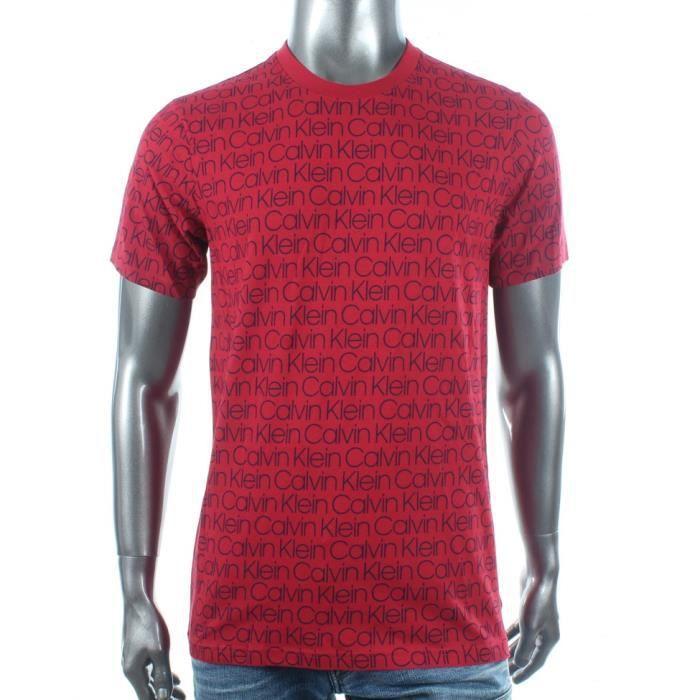 Polo - Calvin Klein - Tee-Shirt Rouge Calvin Klein