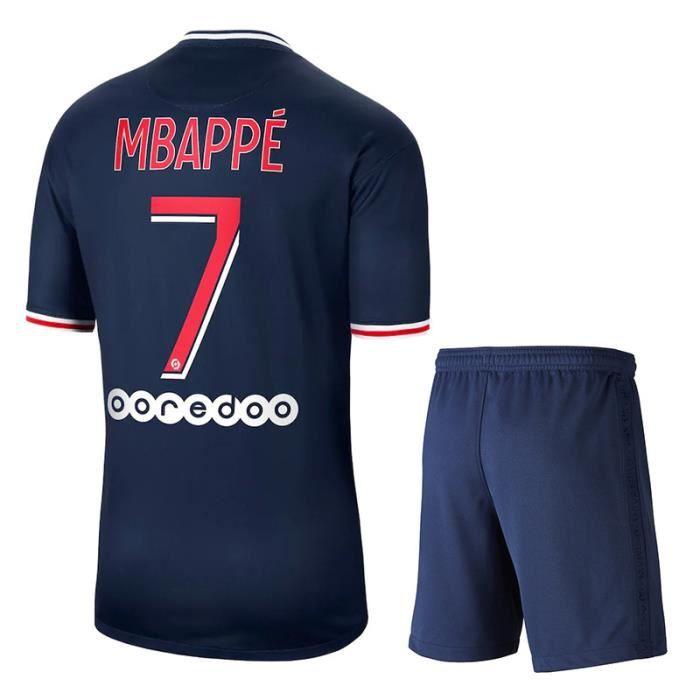 Maillot WhiteXL Paris 20-21 Paris Home Football Maillot n°10 Neymar Mbappe Ensemble personnalisé adulte-enfant