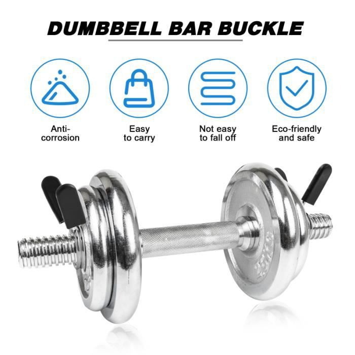 CLISPEED 4PCS 25mm/28mm Dumbbell Barbell Clamps Spring Clip Collars for Powerlifting Cross Fit BARRE - HALTERE - POIDS